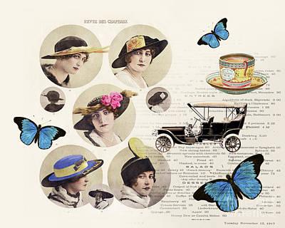 Gatsby Photograph - Revue Des Chapeaux by Delphimages Photo Creations