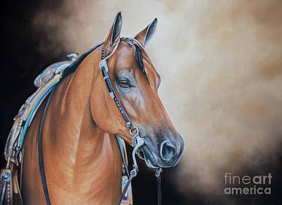 Western Pleasure Horse Pastel - Rewind And Repeat by Joni Beinborn