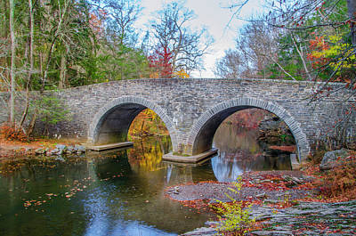 Rex Avenue Bridge In Autumn Print by Bill Cannon