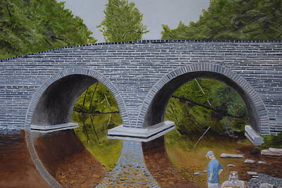 Rex Avenue Bridge Art Print by Michael Walsh