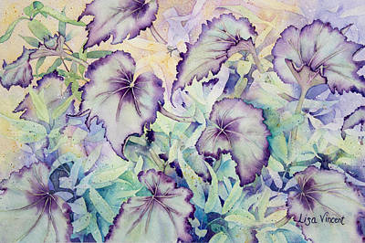 Painting - Rex Begonia by Lisa Vincent