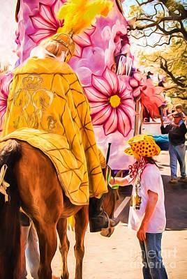 Photograph - Rex Duke And Girl - Nola- Paint by Kathleen K Parker
