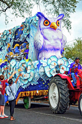 Photograph - Rex Mardi Gras Parade Iv - Paint by Steve Harrington