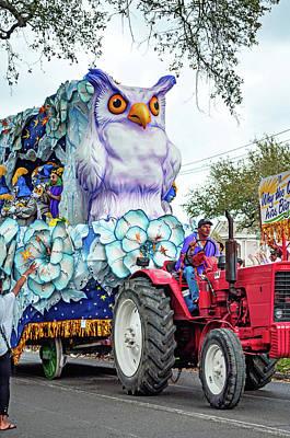 Photograph - Rex Mardi Gras Parade Iv - Why The Owl Has Such Big Eyes by Steve Harrington