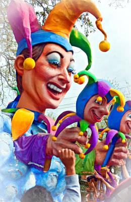 New Orleans Oil Photograph - Rex Mardi Gras Parade Xi Paint by Steve Harrington