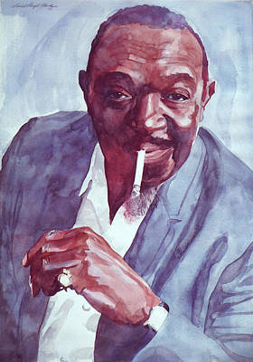 Jazz Royalty-Free and Rights-Managed Images - Rex Stewart Jazz Cornet by David Lloyd Glover