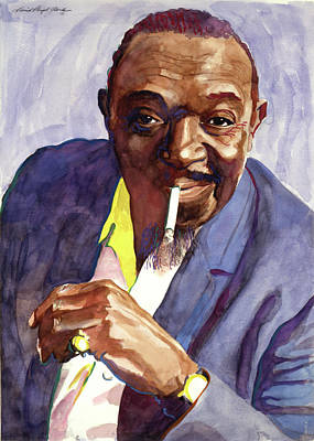Rex Painting - Rex Stewart Jazz Man by David Lloyd Glover