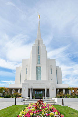 Photograph - Rexburg Idaho Temple by Shanna Hyatt
