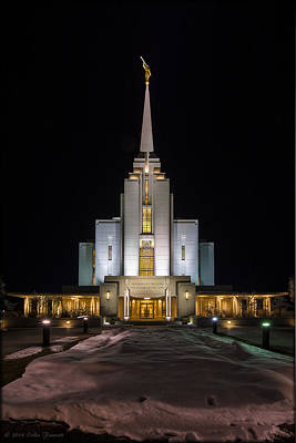 Photograph - Rexburg Temple by Erika Fawcett