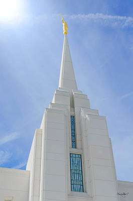 Photograph - Rexburg Temple Spire by Shanna Hyatt