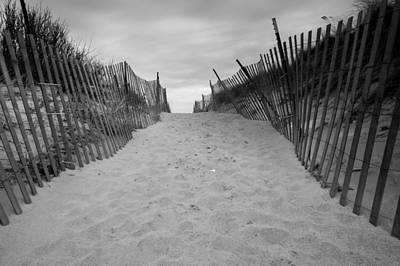 Photograph - Rexhame Beach Entrance In Black And White by Brian MacLean