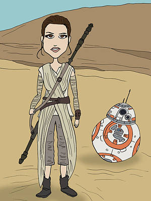 Rey And Bb8 Original