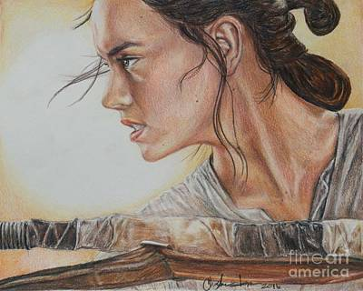Drawing - Rey by Christine Jepsen