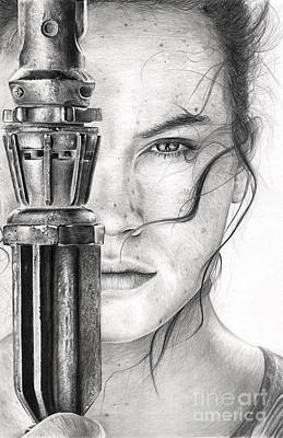 Daisy Drawing - Rey by James Holko