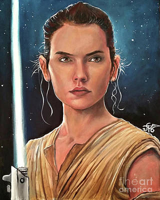 Rey Art Print by Tom Carlton