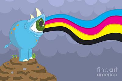 Rhinoceros Digital Art - Reyeno by Kyle Harper