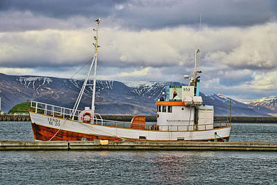 Photograph - Reykavik Harbor # 2 by Allen Beatty