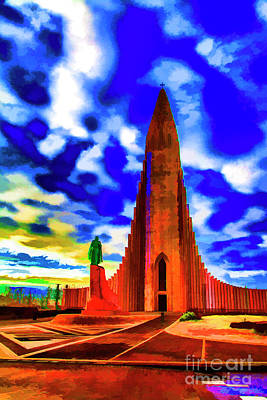 Photograph - Reykjavick Cathedral by Rick Bragan