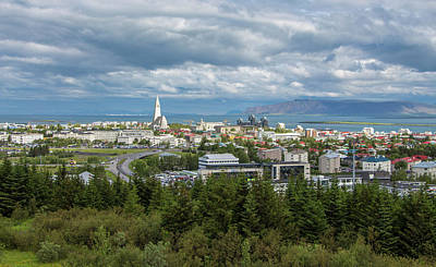 Photograph - Reykjavick Cityscape, Iceland by Venetia Featherstone-Witty