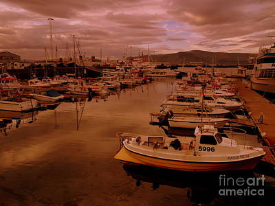 Photograph - Reykjavik Harbour Boats by Michael Canning