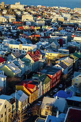 Photograph - Reykjavik Iceland Rooftops by Deborah Smolinske