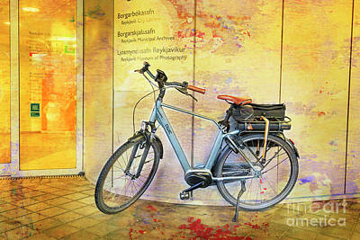 Photograph - Reykjavik Museum Of Photography Bicycle by Craig J Satterlee