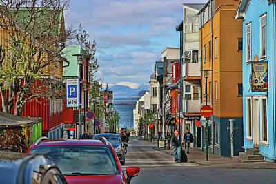 Photograph - Reykjavik Street # 1 by Allen Beatty