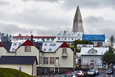 Palm Trees Rights Managed Images - Reykjavik Street Royalty-Free Image by Catherine Sherman