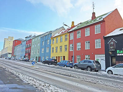 Photograph - Reykjavik Street Iceland 2 3122018j2325.jpg by David Frederick
