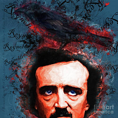Digital Art - Reynolds I Became Insane With Long Intervals Of Horrible Sanity Edgar Allan Poe 20161102 Sq by Wingsdomain Art and Photography