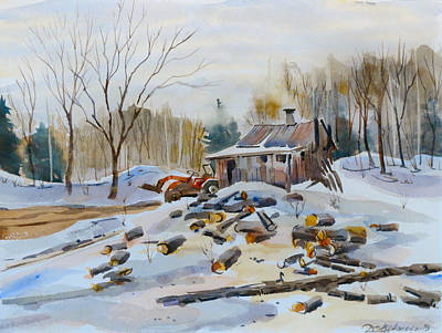 Painting - Reynold's Sugar Shack by David Gilmore