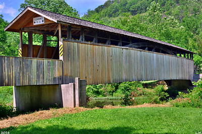 Photograph - Claycomb Covered Bridge by Lisa Wooten