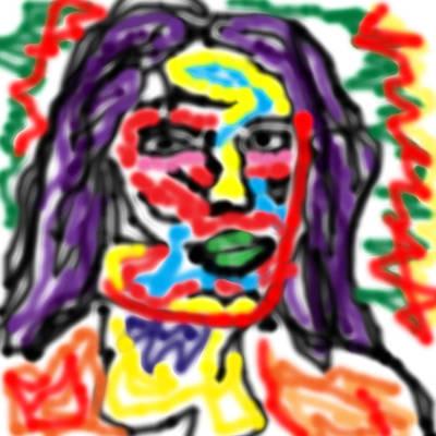 Trent Reznor Digital Art - Reznor by Blind Ape Art