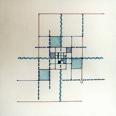 Drawing - Rfb0557 by Robert F Battles