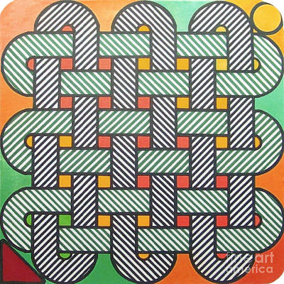 Art Print featuring the drawing Rfb1002 Variation I Diagonal by Robert F Battles