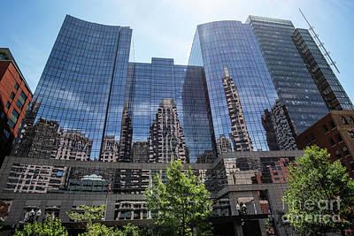 Photograph - Reflecting Cityscape by Judy Wolinsky