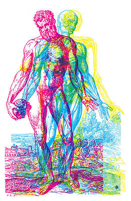 Digital Art - Rgb Anatomy by Gary Grayson
