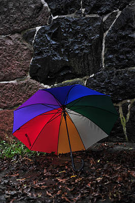 Photograph - Umbrella Against The Wall by Randi Grace Nilsberg