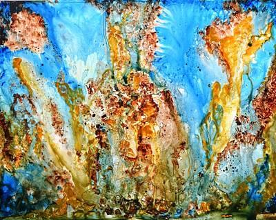 Water Droplets Sharon Johnstone - Rhapsody abstract painting  by Manjiri Kanvinde