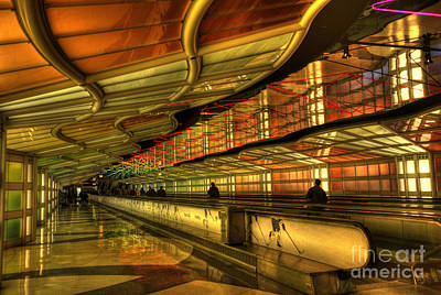 Airport Concourse Photograph - Rhapsody In Blue by David Bearden