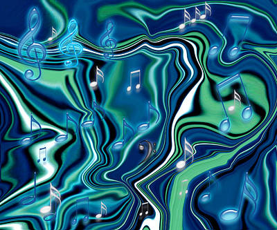 Painting - Rhapsody In Blue I by Donna Proctor