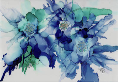 Painting - Rhapsody In Blue by Mary Benke