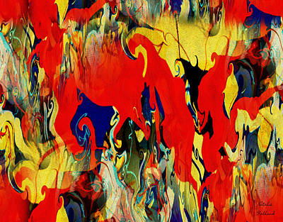 Painting - Rhapsody In Red by Natalie Holland