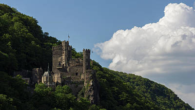 Reconstruction Photograph - Rheinstein Castle In Assmannshausen Germany by Teresa Mucha