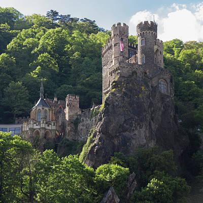 Reconstruction Photograph - Rheinstein Castle Squared by Teresa Mucha