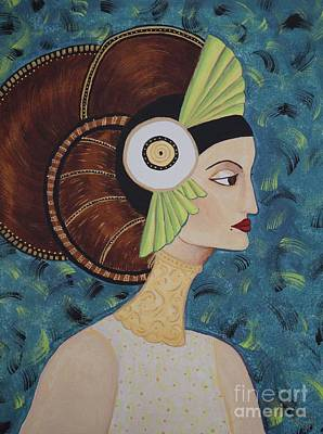 Erte Painting - Rhianne by Denise Fleming