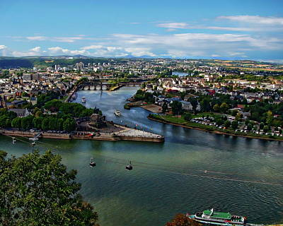 Photograph - Rhine And Moselle Rivers by Anthony Dezenzio