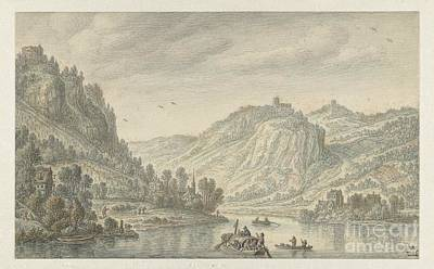 Painting - Rhine At The Drachenfels by Celestial Images