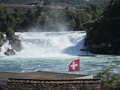Travel Pics Royalty-Free and Rights-Managed Images - Rhine Falls in Switzerland by Travel Pics
