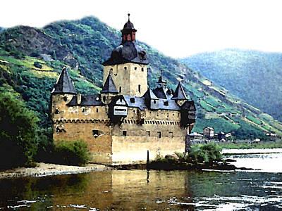 Painting - Rhine River Castle by Paul Sachtleben